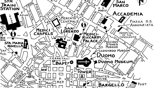 Rick Steves map of Florence